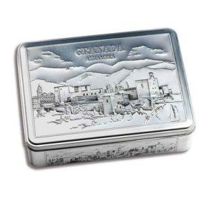Estuche-metálico-400-g-Bombones-Surtidos-Alhambra-Granada-Fridul
